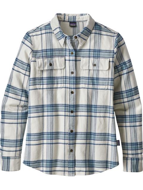 Patagonia W's Fjord Flannel Longsleeve Shirt Activist Big: Birch White